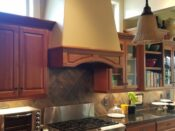 Before photo of kitchen hood